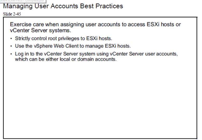 esxi host manage user