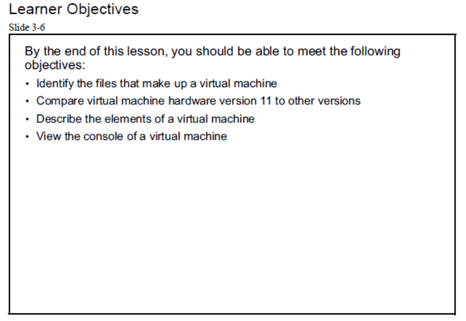 virtual machine object