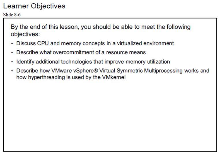 آموزش مجازی سازی سرور | مجازی سازی | مجازی سازی سرور | آموزش مجازی سازی | learner object virtual cpu and memory