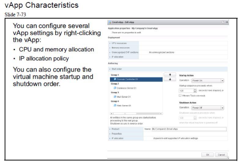 آموزش مجازی سازی سرور   مجازی سازی   مجازی سازی سرور   آموزش مجازی سازی   vapp characteristics
