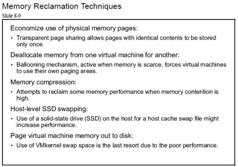 آموزش مجازی سازی سرور | مجازی سازی | مجازی سازی سرور | آموزش مجازی سازی | memory reclamation techniques