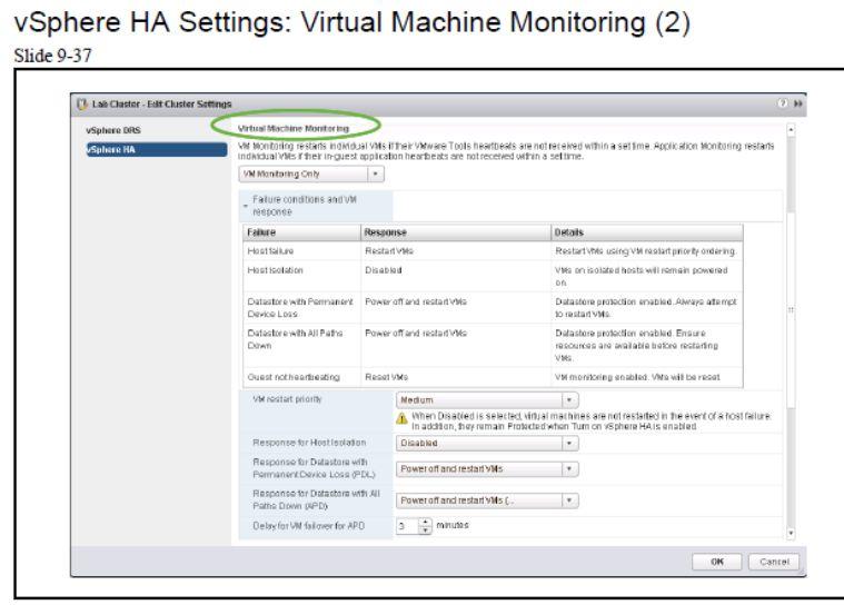 آموزش مجازی سازی سرور | مجازی سازی | مجازی سازی سرور | آموزش مجازی سازی | vsphere ha setting virtual machine monitoring