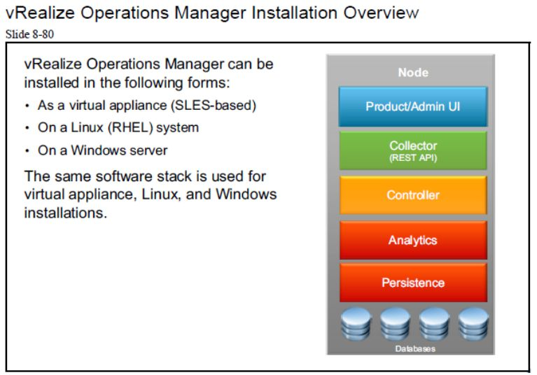 9 vrealize operations manager installation overview